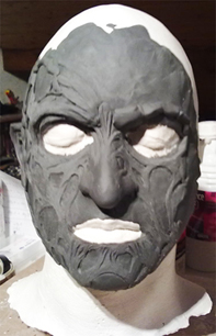 Création masque Freddy Krueger Face11