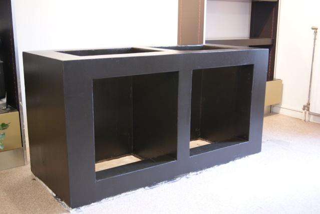 Fabrication d 39 un meuble en b ton cellulaire pour bac polyfont - Meuble beton cellulaire ...