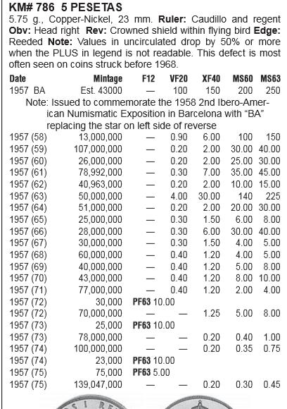 5 Pesetas 1957 (*74). Estado Español. Clasificaccion Captur12