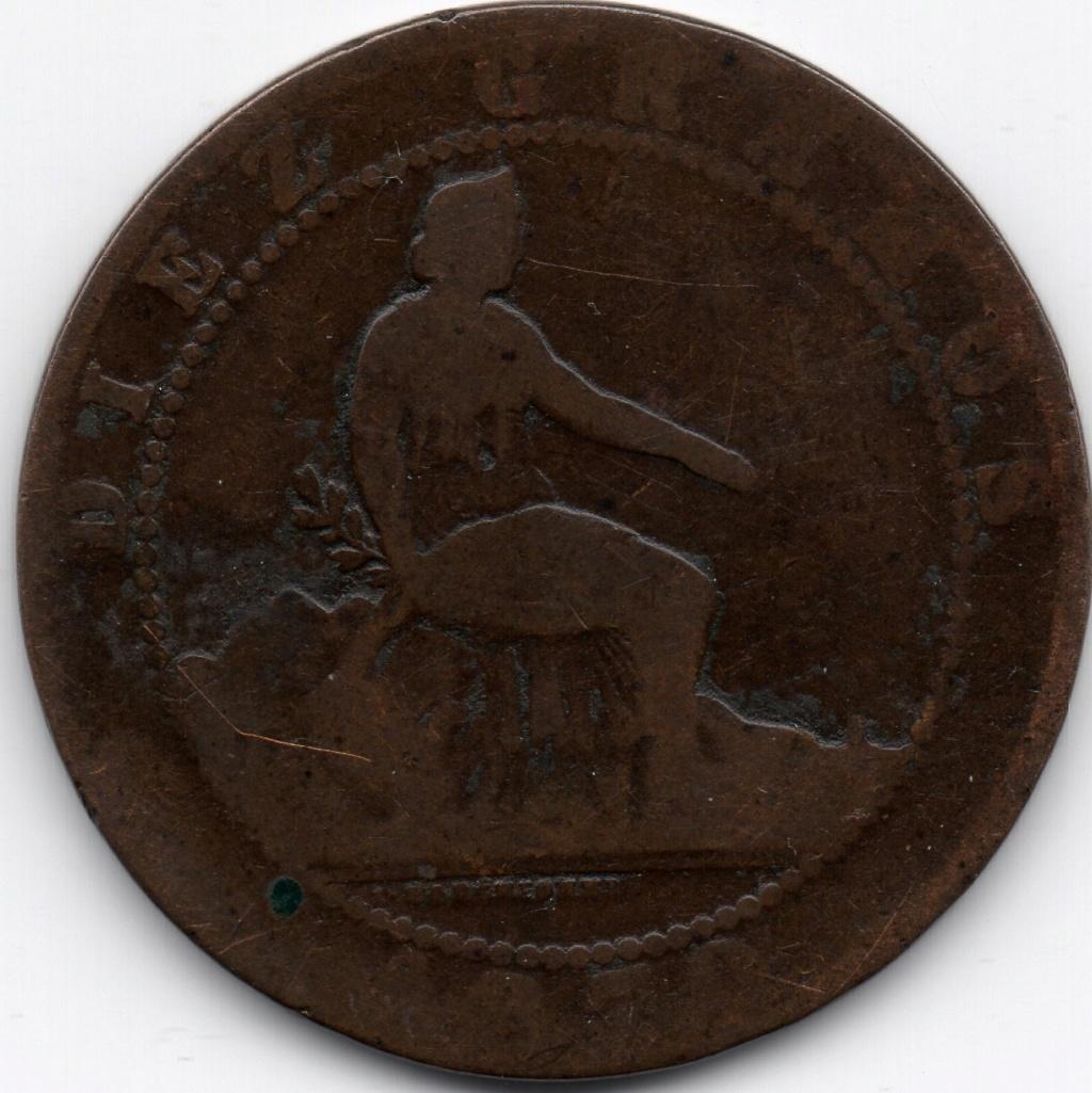 10 céntimos 1870. Gobierno Provisional Img04210