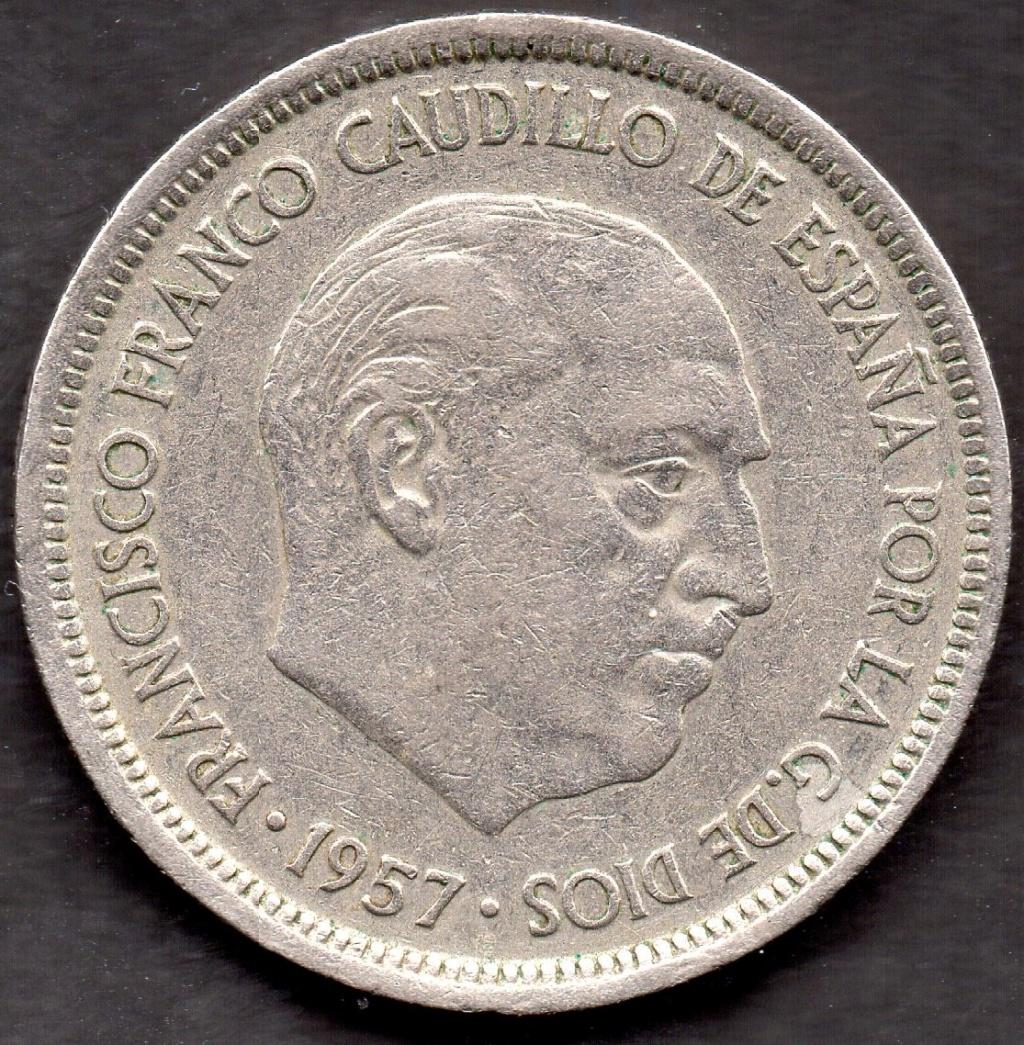 5 Pesetas 1957 (*74). Estado Español. Clasificaccion Img05310