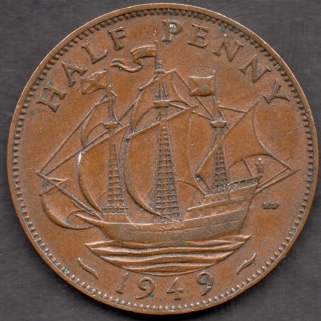 Half Penny 1949. Reino Unido. Img07810