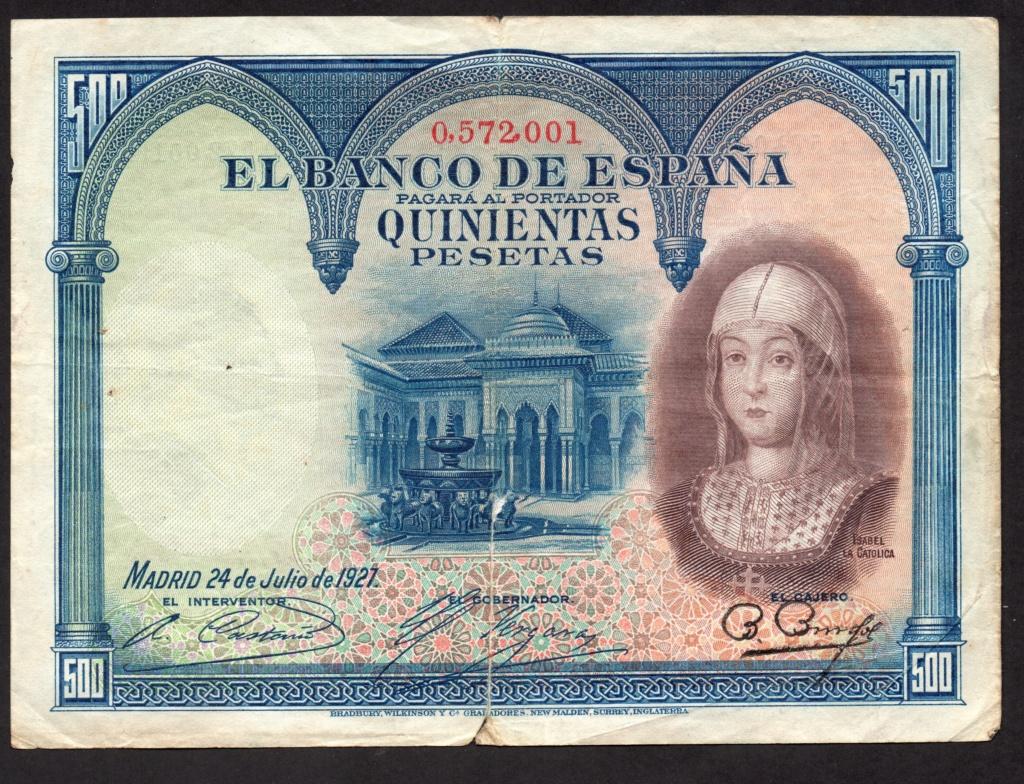 500 Pesetas 1927. Img09910