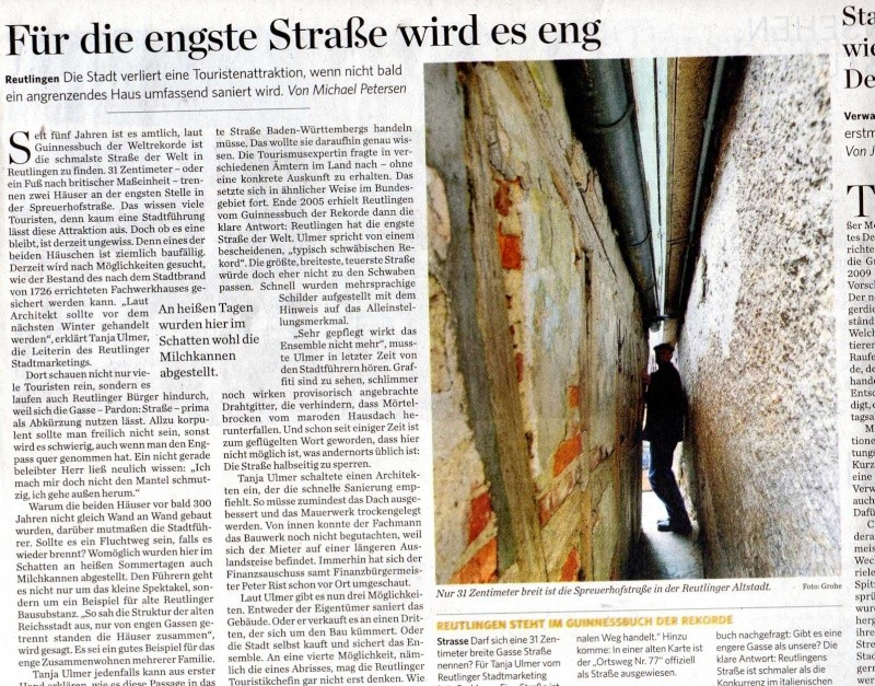 Äh, ja... Schmale Gasse / Engste Straße?  Img03410