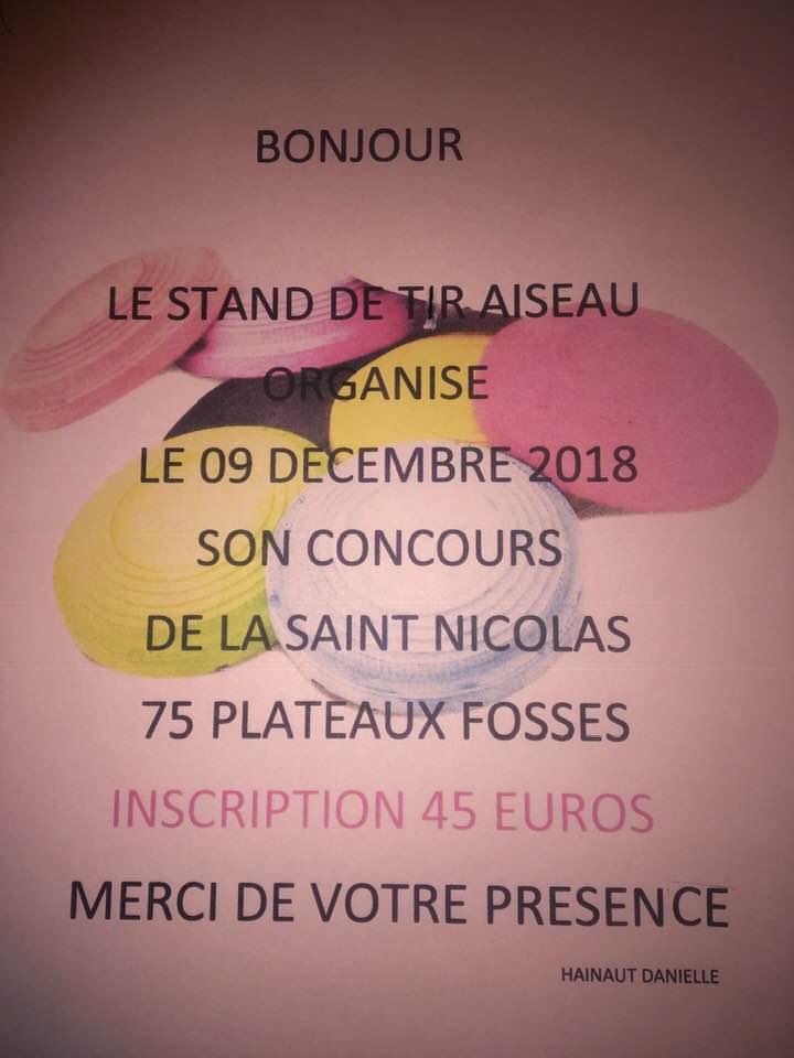 Concours de la Saint Nicolas le 09 décembre à Aiseau  46180110