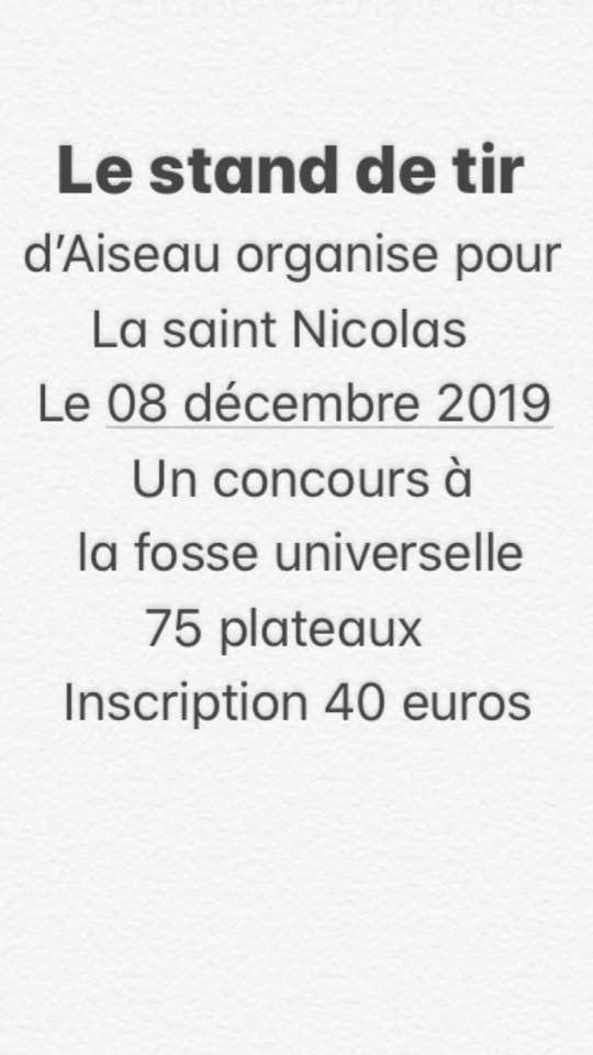 Concours Saint Nicolas 08 décembre 2019 à Aiseau 74451110