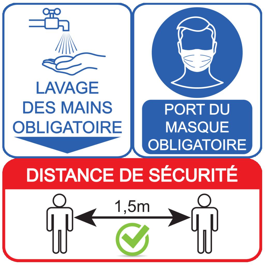Port du masque obligatoire dans le local Lot-de10