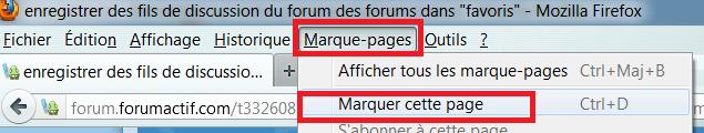 """enregistrer des fils de discussion du forum des forums dans """"favoris"""" Captu196"""