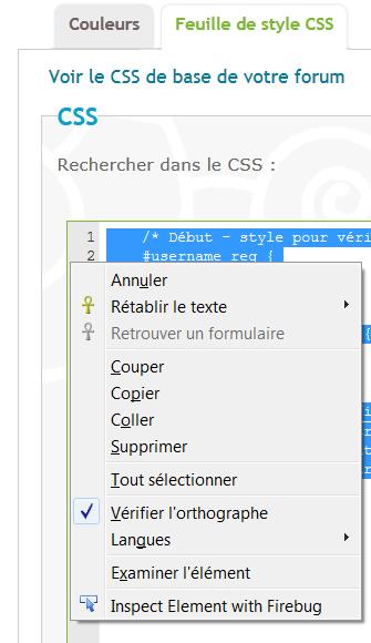 [Résolu] Impossible de faire un copier/collé dans les zones de texte d'édition du CSS et des templates Captu375
