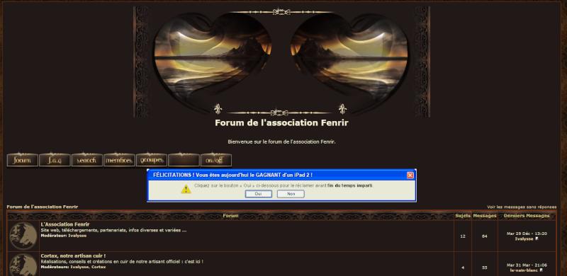 [problème] Plus de forum et page rouge yahooboard à la place. Captur17