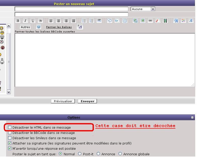 Problème HTML Html310