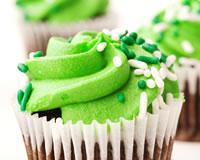 Cupcakes au chocolat et crème de pistache B7c53110
