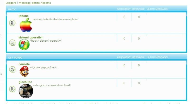 [Risolto] alcune categorie del forum non compaiono! Forum10