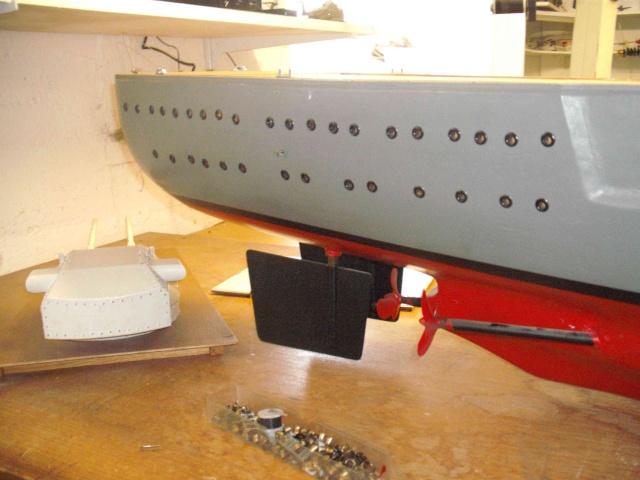 """Restauration eines 1:67er Modells der """"Bismarck"""". 15a_we10"""