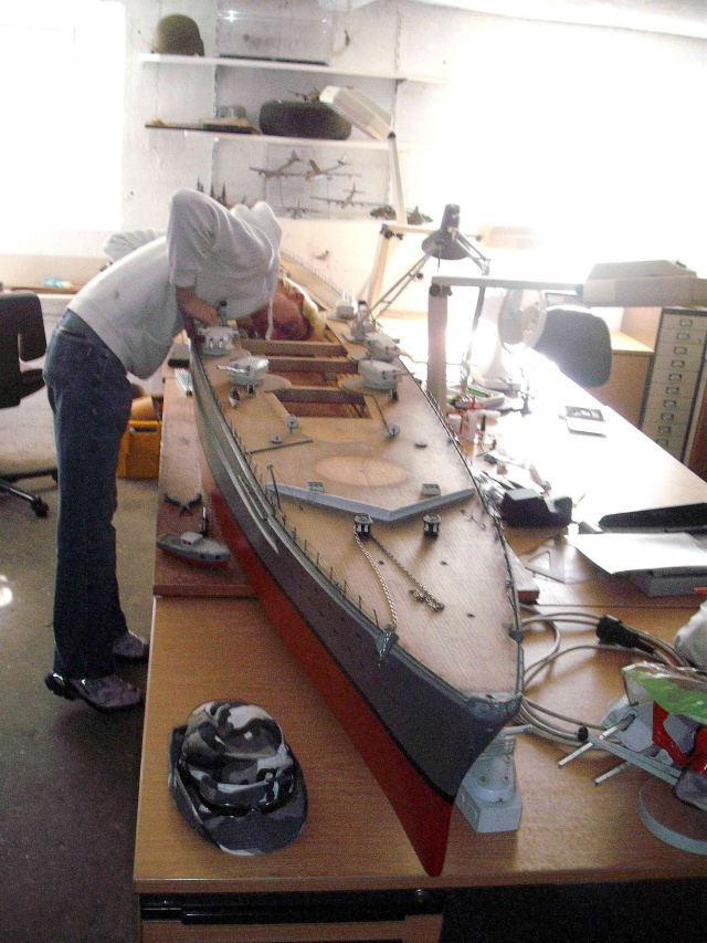 """Restauration eines 1:67er Modells der """"Bismarck"""". 2_web11"""