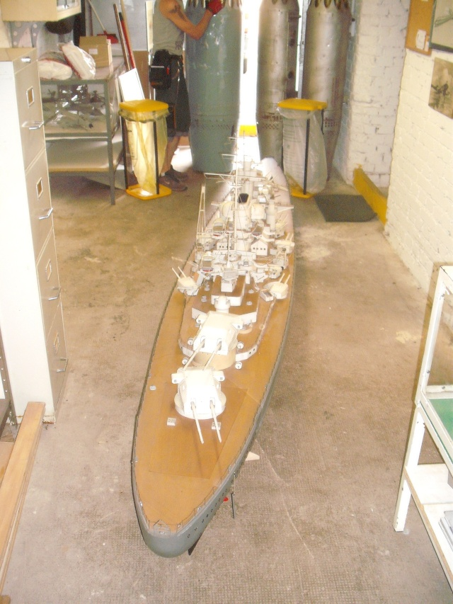 """Restauration eines 1:67er Modells der """"Bismarck"""". Dscf8518"""