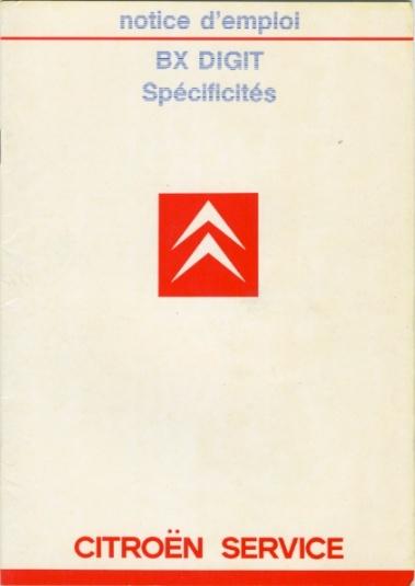 Notice d'emploi BX DIGIT Spécificités et Ordinateur de bord Notice10