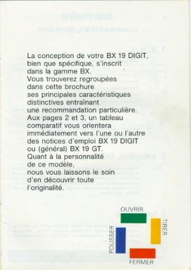 Notice d'emploi BX DIGIT Spécificités et Ordinateur de bord Notice11