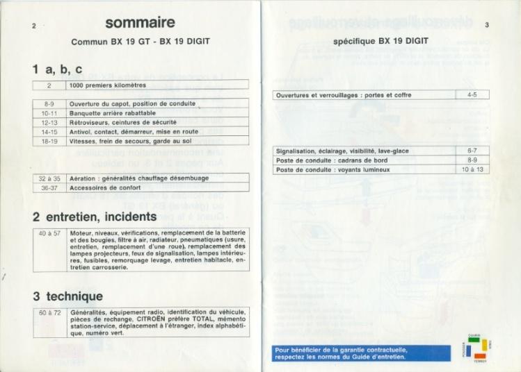 Notice d'emploi BX DIGIT Spécificités et Ordinateur de bord Notice12