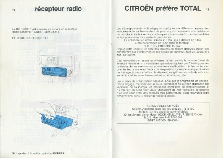 Notice d'emploi BX DIGIT Spécificités et Ordinateur de bord Notice18