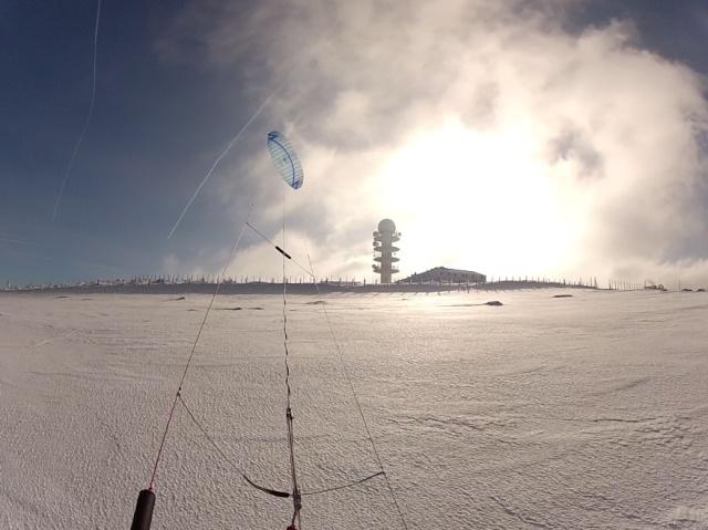 [Snowkite] col des supeyres le 17/01 + Vidéo Antenn10