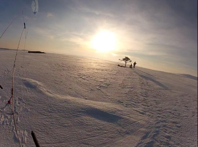 [Snowkite] col des supeyres le 17/01 + Vidéo Arbre210