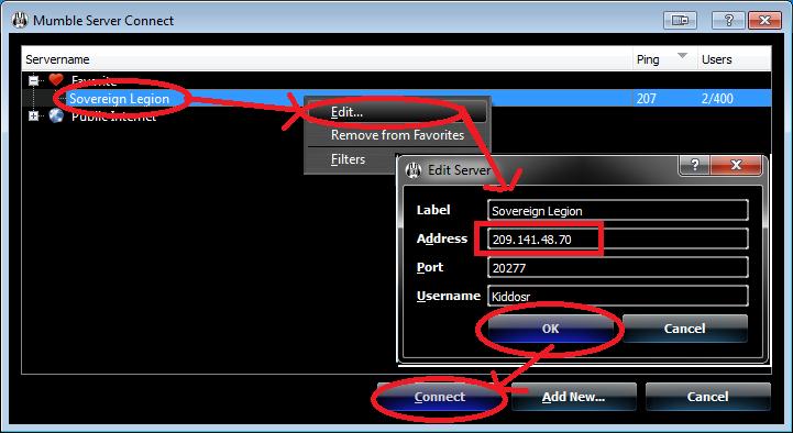 Mumble IP address changed Server13