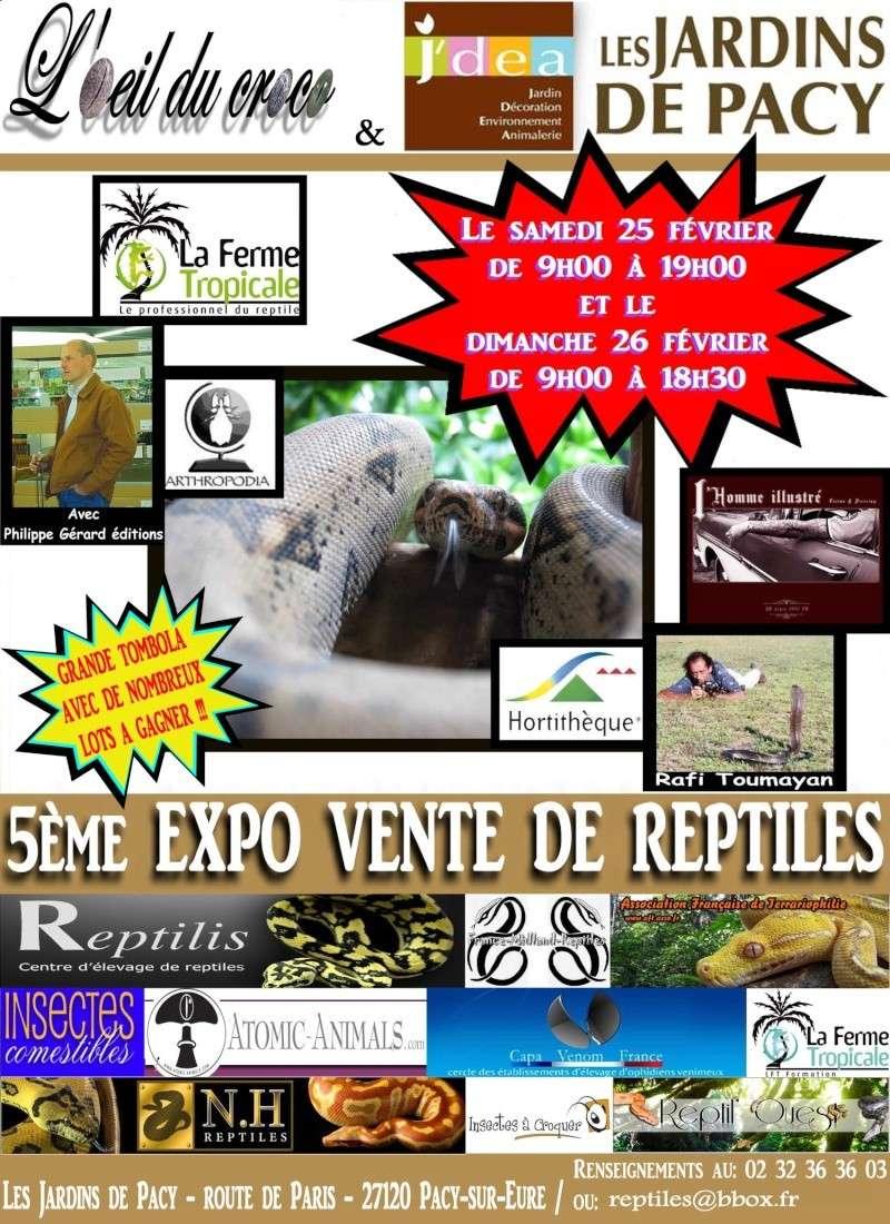 """5ème expo-vente de reptiles aux """"Jardins de Pacy"""" Affich10"""