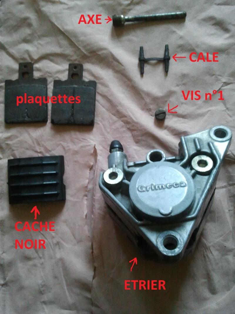 changement des plaquettes de frein arrière pour débutant Photo015