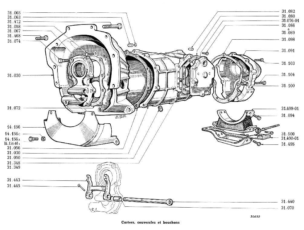 Photos, plan, images support boite de vitesse type 277-0 Boite310