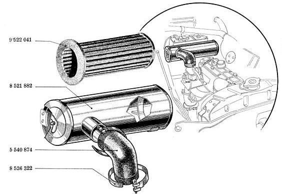 Recherche durite air carbu et cendrier Filtre11