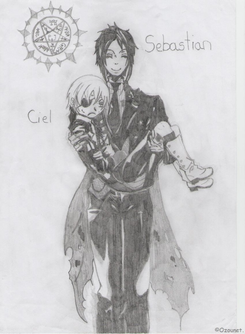 ~ Sebastian Michaelis's draws.  Kuro_b10