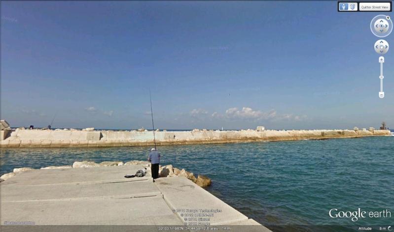 Street view : Où est le pêcheur ?? Tel-Aviv, Israël Pecheu11