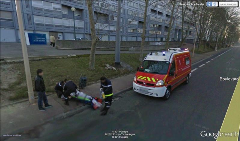 STREET VIEW : à la recherche des interventions de pompiers Pompie11