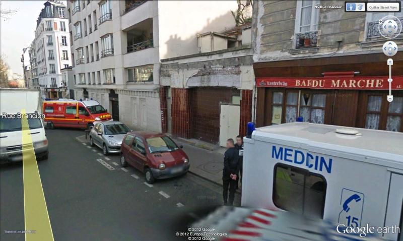 STREET VIEW : à la recherche des interventions de pompiers Pompie15