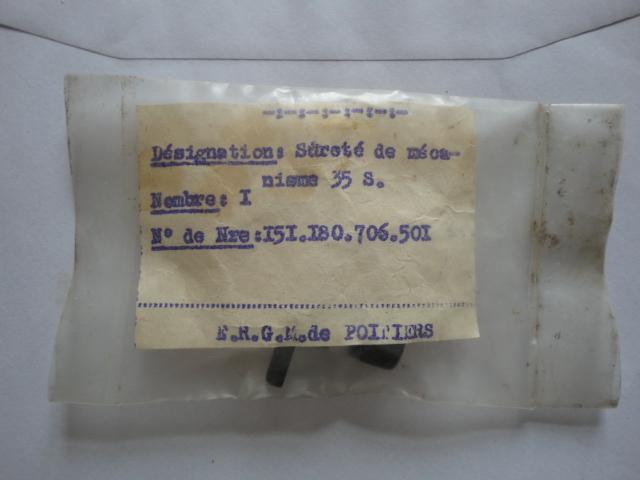 Démontage levier de sûreté PA 1935 S Dsc01617