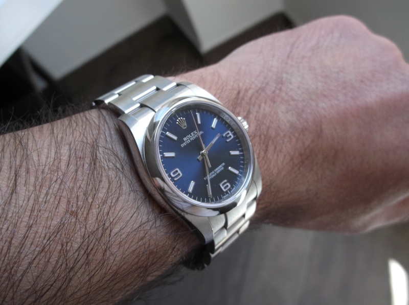 Rolex Oyster Perpetual 116000 cadran bleu  Dscf5144