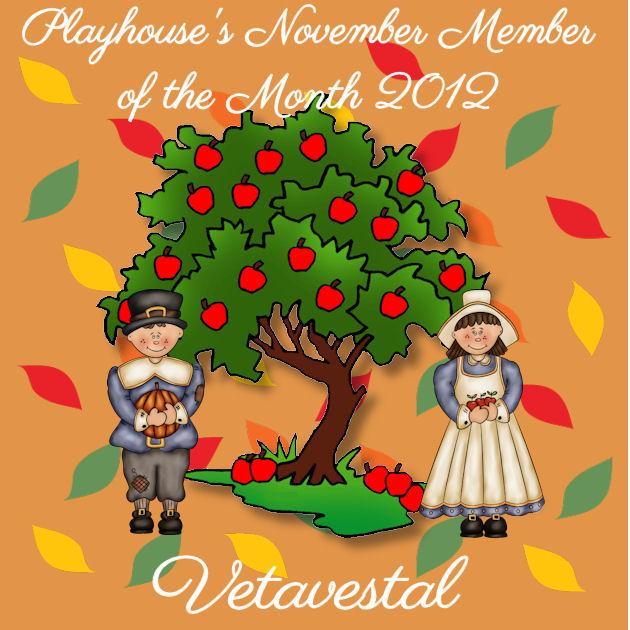 Congratulations Vetavestal - November member of the month Mom110