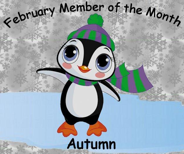 CONGRATULATIONS AUTUMN, our February member of the month Mom_aw10