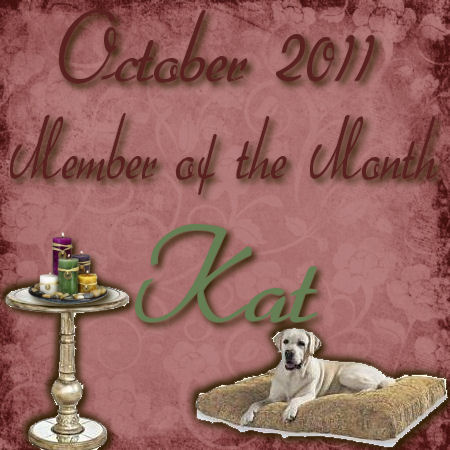 CONGRATULATIONS KAT - OCTOBER MEMBER OF THE MONTH Octobe10