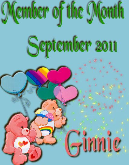 CONGRATULATION GINNIE- SEPTEMBER MEMBER OF THE MONTH Septem10