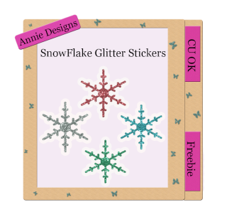 Snowflake Stickers Design10