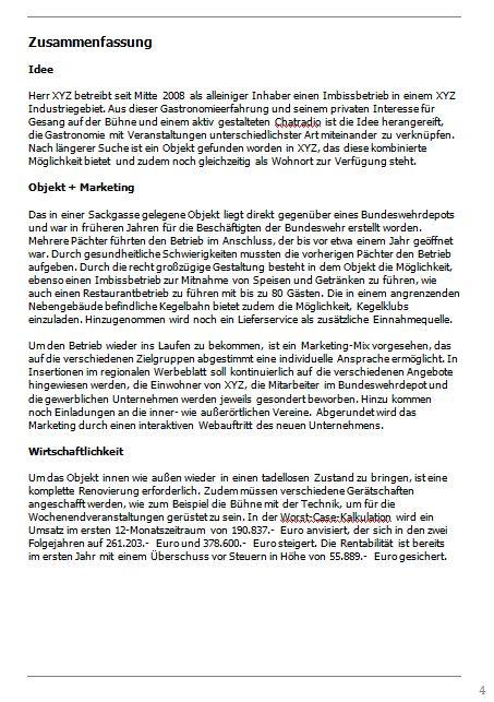 Businessplan-Praxisbeispiel: Vom Imbissbetrieb zur Erlebnisgastronomie Busine35