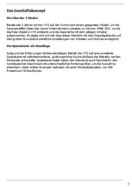 Businessplan-Praxisbeispiel: Vom Imbissbetrieb zur Erlebnisgastronomie Busine37