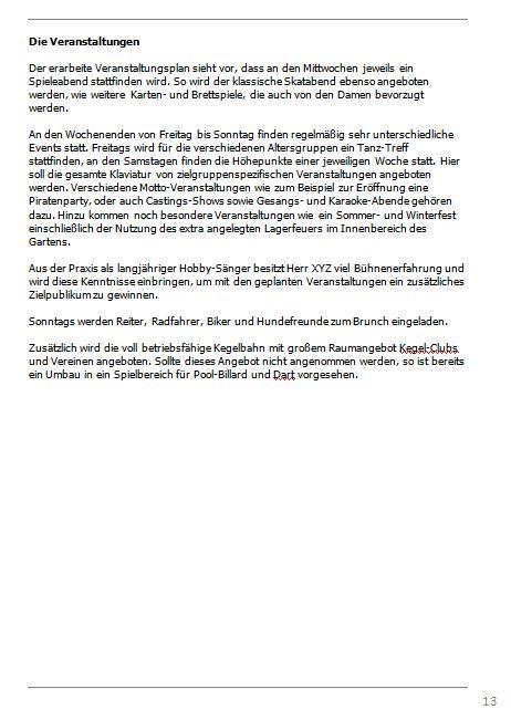 Businessplan-Praxisbeispiel: Vom Imbissbetrieb zur Erlebnisgastronomie Busine42