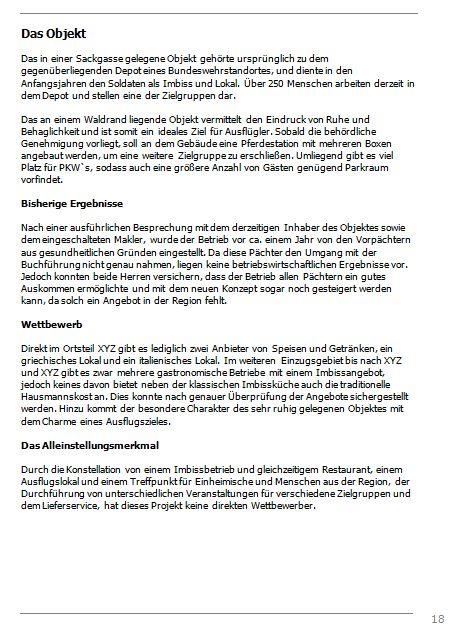 Businessplan-Praxisbeispiel: Vom Imbissbetrieb zur Erlebnisgastronomie Busine47