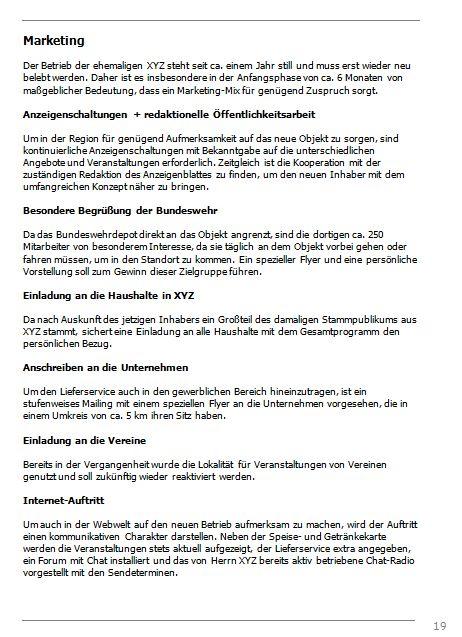 Businessplan-Praxisbeispiel: Vom Imbissbetrieb zur Erlebnisgastronomie Busine48