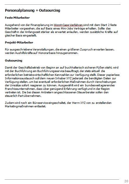 Businessplan-Praxisbeispiel: Vom Imbissbetrieb zur Erlebnisgastronomie Busine49