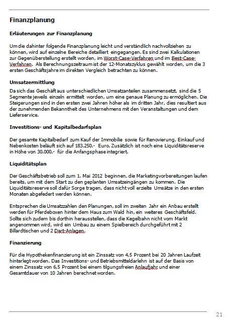 Businessplan-Praxisbeispiel: Vom Imbissbetrieb zur Erlebnisgastronomie Busine50