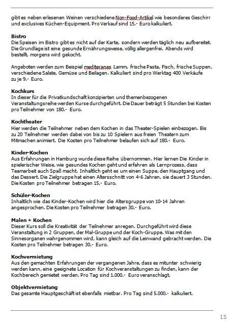 Businessplan-Praxis-Beispiel: Vom Kochevent zum Veranstaltungs-Unternehmen Busine71